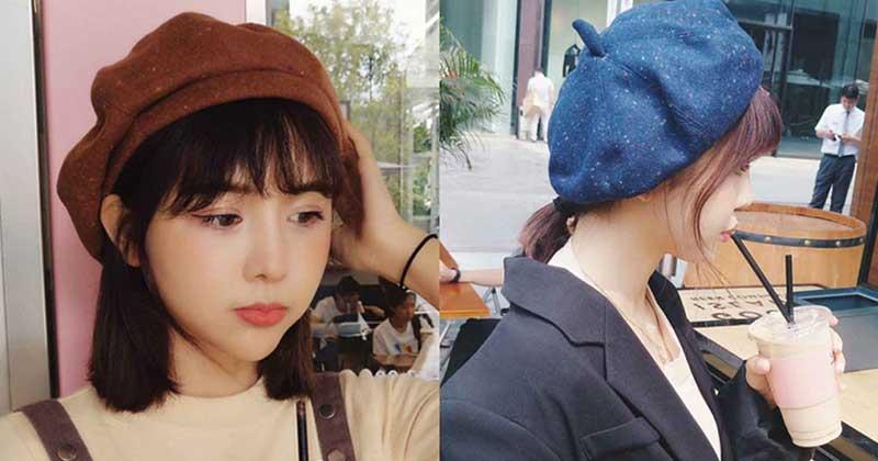 หมวกเบเร่ต์กับแว่นตาสำหรับสาวญี่ปุ่นในฤดูกาลนี้